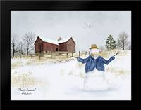 Amish Snowman: Framed Art Print by Jacobs, Billy