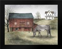 Old Grey Mare: Framed Art Print by Jacobs, Billy