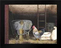 Chicken Feed: Framed Art Print by Jacobs, Billy