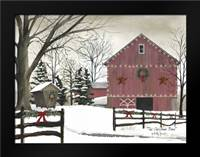 Christmas Barn: Framed Art Print by Jacobs, Billy