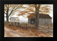 Old Country Road: Framed Art Print by Jacobs, Billy
