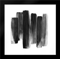 BLACK SHAPES: Framed Art Print by Atelier B Art Studio