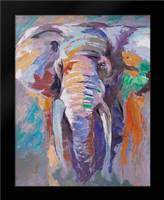 ELEPHANT IN PASTEL COLOR: Framed Art Print by Atelier B Art Studio