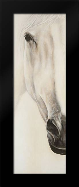 Half Portrait of a Peaceful Horse: Framed Art Print by Atelier B Art Studio