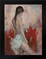 Charming Naked woman with white drape: Framed Art Print by Fadda, Maria Nella