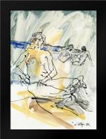 Women on the beach abstract: Framed Art Print by Sotgiu, Salvatore