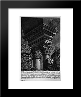 The Roman Antiquities, T. 2, Plate Xxiii. Remains Of The Great Building Burial Added To The Mausoleum Of Constance: Modern Black Framed Art Print by Giovanni Battista Piranesi