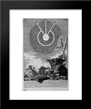 The Roman Antiquities, T. 2, Plate Xxxi. Fragment Of Stucco Gouged By The Time Of Nicchioni Is One Of The Interior Of The Factory Before Burial: Modern Black Framed Art Print by Giovanni Battista Piranesi