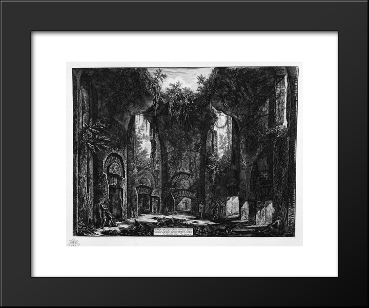 Diet Or Place Of Entrance To Several Great Cubicles And Other Magnificent Rooms, Existing In The Villa Adriana: Modern Black Framed Art Print by Giovanni Battista Piranesi