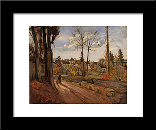 Louveciennes: Modern Black Framed Art Print by Camille Pissarro