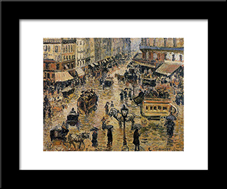 Place Du Havre, Paris: Modern Black Framed Art Print by Camille Pissarro