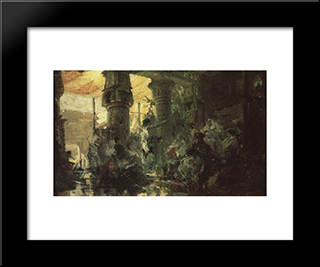 Prodigal Son: Modern Black Framed Art Print by Vasily Polenov