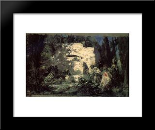 Christ And The Sinner: Modern Black Framed Art Print by Vasily Polenov