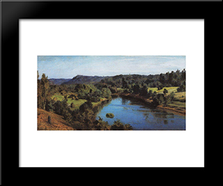 The River Oyat: Modern Black Framed Art Print by Vasily Polenov