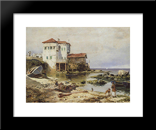Beirut: Modern Black Framed Art Print by Vasily Polenov
