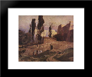 Constantinople: Modern Black Framed Art Print by Vasily Polenov