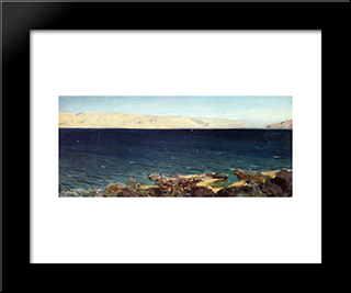 Tiberias (Gennesaret) Lake: Modern Black Framed Art Print by Vasily Polenov