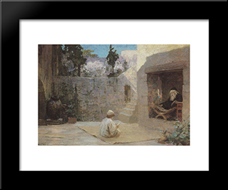 Was Filled With Wisdom: Modern Black Framed Art Print by Vasily Polenov