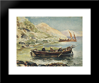 John And James: Modern Black Framed Art Print by Vasily Polenov
