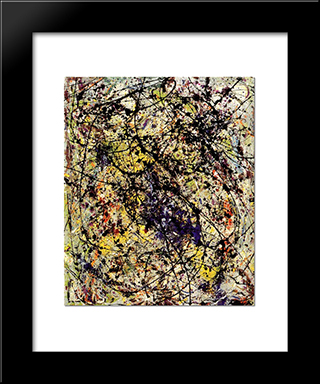 Reflection Of The Big Dipper: Modern Black Framed Art Print by Jackson Pollock