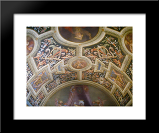 Volta: Modern Black Framed Art Print by Jacopo Pontormo