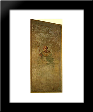 St. Julian: Modern Black Framed Art Print by Jacopo Pontormo