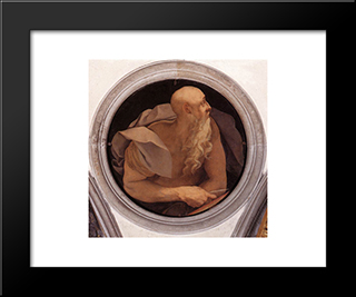 St. John The Evangelist: Modern Black Framed Art Print by Jacopo Pontormo