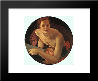 St. Matthew The Evangelist: Modern Black Framed Art Print by Jacopo Pontormo