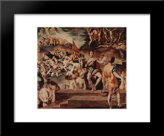 Ten Thousand Martyrs: Modern Black Framed Art Print by Jacopo Pontormo