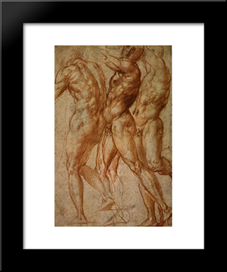 Joseph In Egypt: Modern Black Framed Art Print by Jacopo Pontormo