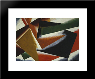 Painterly Architectonic: Modern Black Framed Art Print by Lyubov Popova