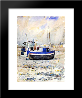 Low Tide, Afternoon, Treport: Modern Black Framed Art Print by Maurice Prendergast