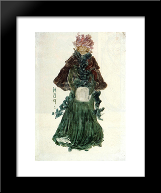 The Red Cape: Modern Black Framed Art Print by Maurice Prendergast