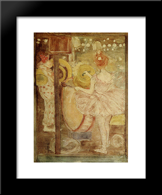Circus Band: Modern Black Framed Art Print by Maurice Prendergast