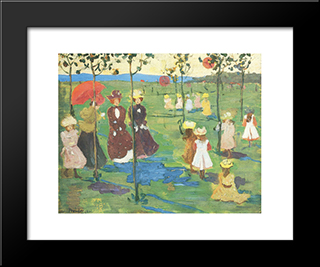 Franklin Park, Boston: Modern Black Framed Art Print by Maurice Prendergast