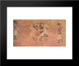Skipping Rope: Modern Black Framed Art Print by Maurice Prendergast