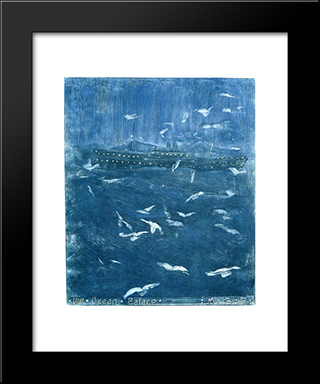The Ocean Palace: Modern Black Framed Art Print by Maurice Prendergast