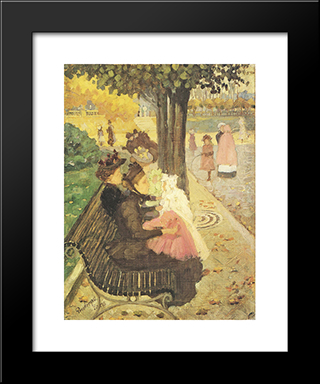 The Tuileries Gardens, Paris: Modern Black Framed Art Print by Maurice Prendergast