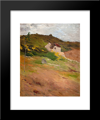French Landscape: Modern Black Framed Art Print by Georg Pauli