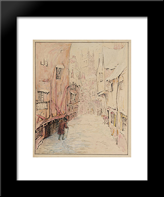 The Tailor Returning Home: Modern Black Framed Art Print by Beatrix Potter