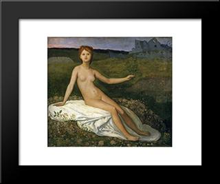 Hope: Modern Black Framed Art Print by Pierre Puvis de Chavannes