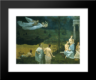 The Sacred Wood Cherished By The Arts And The Muses (Detail): Modern Black Framed Art Print by Pierre Puvis de Chavannes