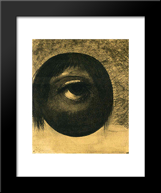 Vision: Modern Black Framed Art Print by Odilon Redon