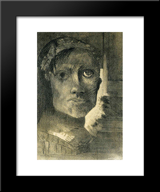 False Glory: Modern Black Framed Art Print by Odilon Redon