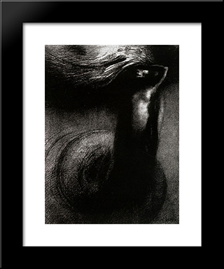 Death: My Irony Surpasses All Others!: Modern Black Framed Art Print by Odilon Redon