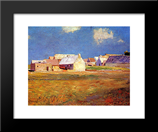 Breton Village: Modern Black Framed Art Print by Odilon Redon