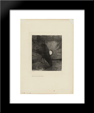 Ceaselessly By My Side The Demon Stirs: Modern Black Framed Art Print by Odilon Redon
