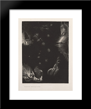 Different Peoples Inhabit The Countries Of The Ocean (Plate 23): Modern Black Framed Art Print by Odilon Redon
