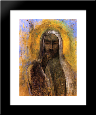 Christ In Silence: Modern Black Framed Art Print by Odilon Redon