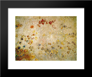 Decorative Panel: Modern Black Framed Art Print by Odilon Redon
